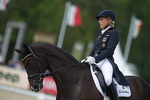 Ingrid Klimke riding Tabasco TSF at Luhmuhlen 2013