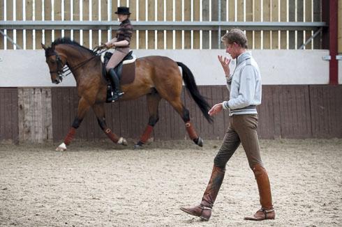 Matt Frost training a rider