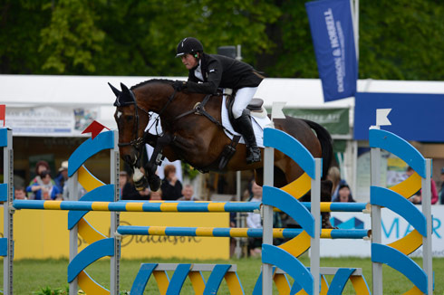 Tom McEwen and Diesel win the under-25 class at Bramham 2013