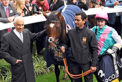 Prince Khalid Abdullah with Frankel and Tom Queally
