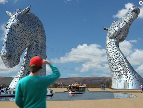 Two Giant Horse Head Sculptures To Be Built In Central