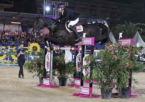 William Funnell riding Billy Congo in Cannes GCT