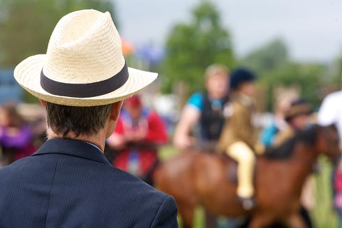 A judge at a county show
