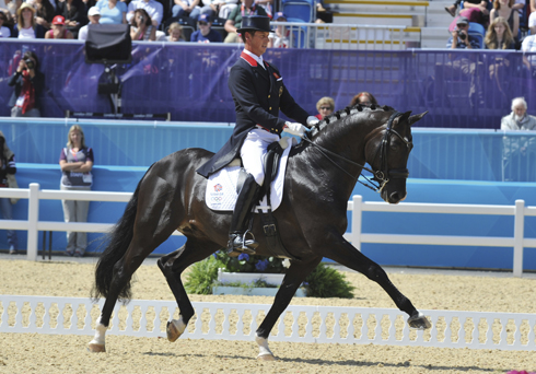 Carl Hester riding Uthopia at the London Olympic Games