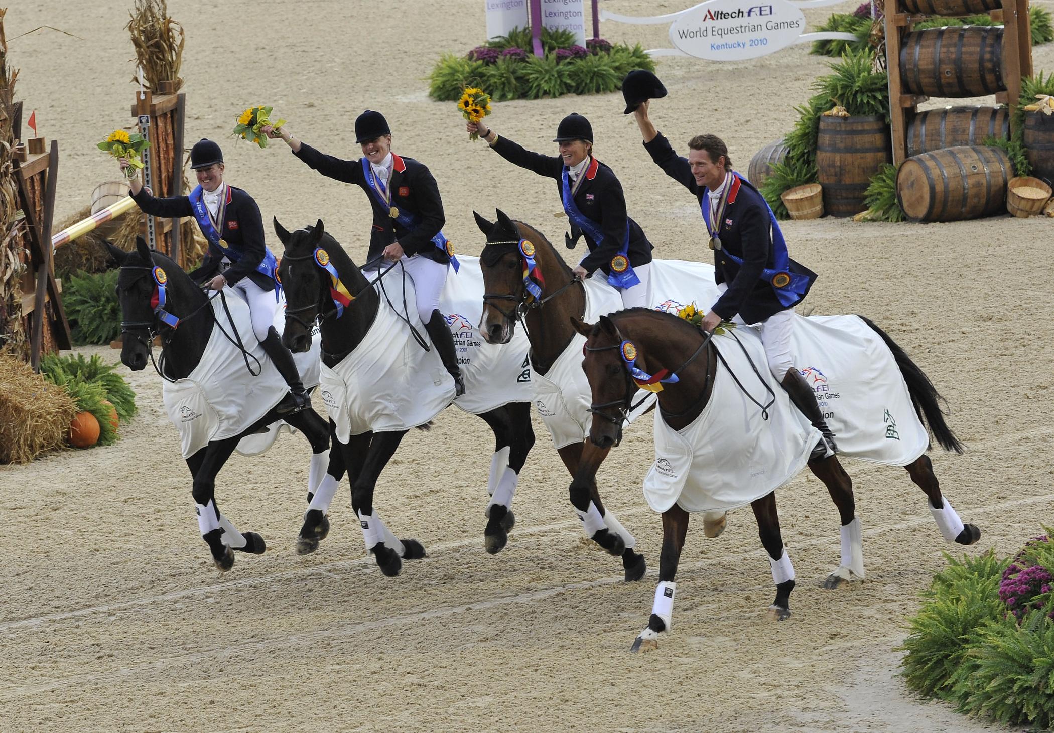 British gold medal eventing team