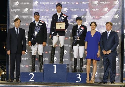 Longines Global Champions Tour of Monaco podium