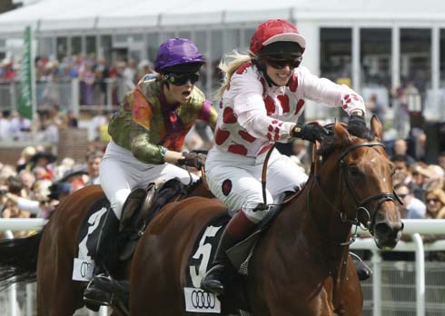 Lady jockeys at Glorious Goodwood
