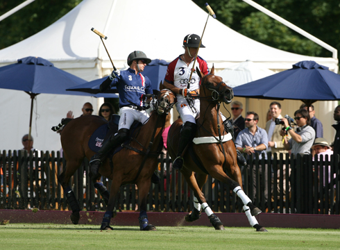 England and the USA do battle for the Westchester Cup