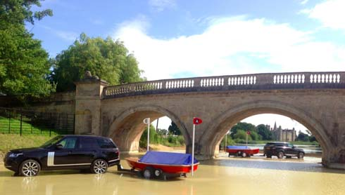 Lion bridge at Burghley