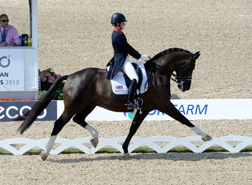 Charlotte Dujardin and Valegro on their way to winning the grand prix special at the 2013 Europeans