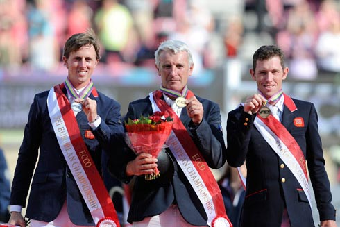The 2013 European showjumping individual medal ceremony