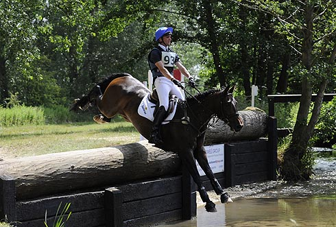 New Zealand rider Tom Gadsby competing at Great Witchingham 2013 on Cadillac