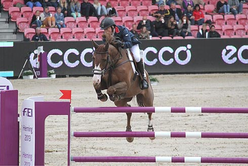 Michael Whitaker and Viking jump clear