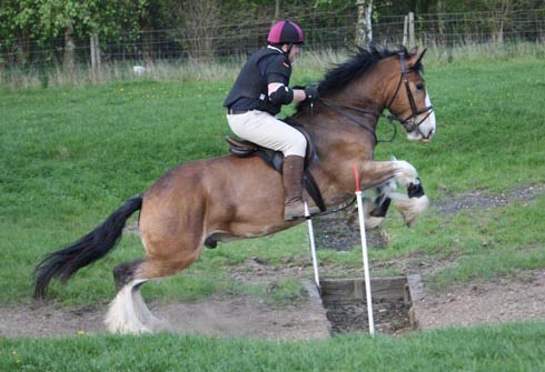 Hovis demonstrating his cross-country skills