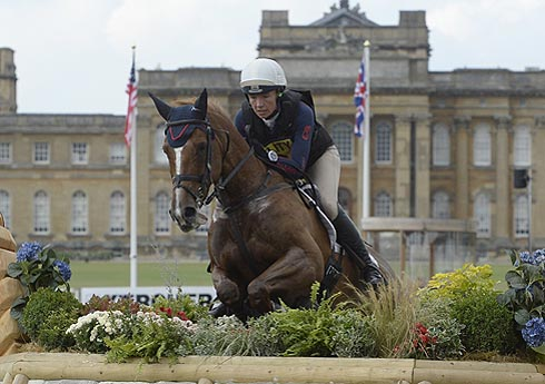 Aoife Clark riding FENYAS ELEGANCE in the CCI during the Cross Country phase of The Fidelity Blenheim Palace International Horse Trials, near Woodstock in the UK on 14 September 2013