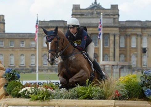 Aoife Clark riding Fenyas Elegance at Blenheim Horse Trials