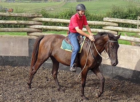 Jason Webb riding Billy