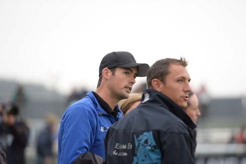 Jock Paget watching dressage at Burghley