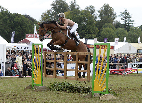 Mike Jackson (Heythrop) in The Masters' Challenge at The Fidelity Blenheim Palace International Horse Trials, near Woodstock in the UK on 14 September 2013