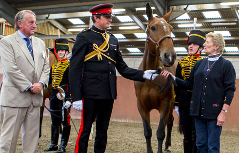 Penny handed over by Kings Troop