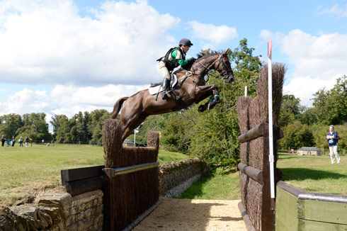 Alex Postolowsky clears the Cottesmore Leap at her first Burghley