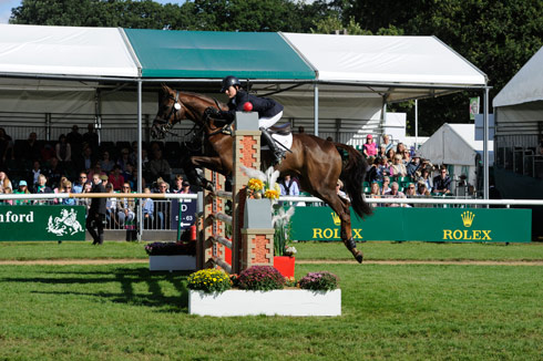 Alex Postolowsky and Islanmore Ginger at Burghley 2013