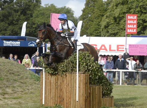 Francis Whittington riding FERNHILL HIGHLIGHT in the CCI during the Cross Country phase of The Fidelity Blenheim Palace International Horse Trials, near Woodstock in the UK on 14 September 2013
