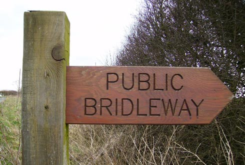Bridleway sign. Photo by Phil Catterall