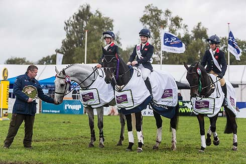 Team GBR win the Nations Cup of Eventing