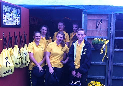 Oakley Hunt (West) PPC team outside their tack room at HOYS