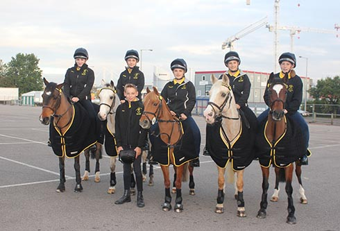 Oakley Hunt West Prince Philip Cup team at the NEC, Birmingham