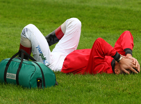 Frankie Dettori after his fall