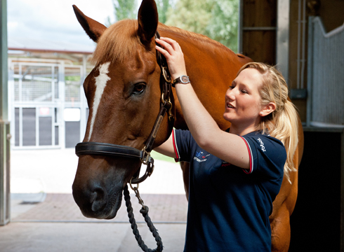Laura Collett and Noble Bestman at home in 2011