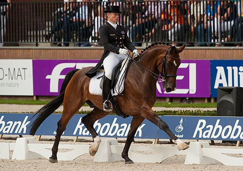 Isabell Werth riding El Santo NRW at European Championship Dressage 2011