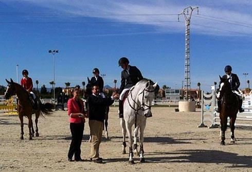 Joseph Stockdale wins in Spain on borrowed horse