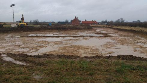 Work on Lauren Shannon's new yard - 29 January 2014