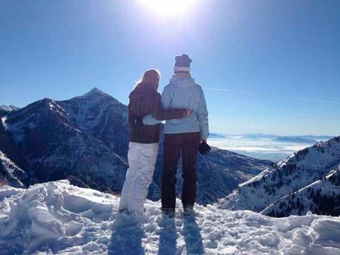 Lauren Shannon skiing in Utah, Christmas 2013