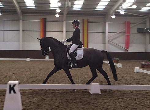 Chloe Vell competing at Addington
