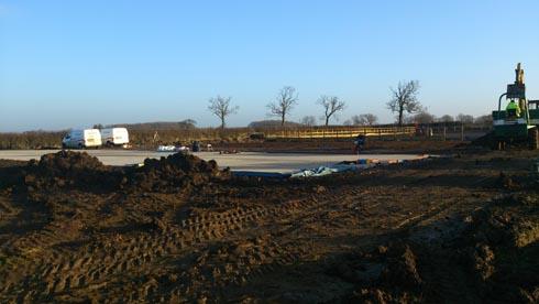 Lauren Shannon's yard and arena in progress