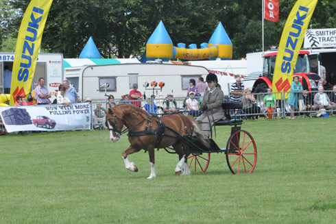 Victoria Kedward in the exercise class at Brecon County Show