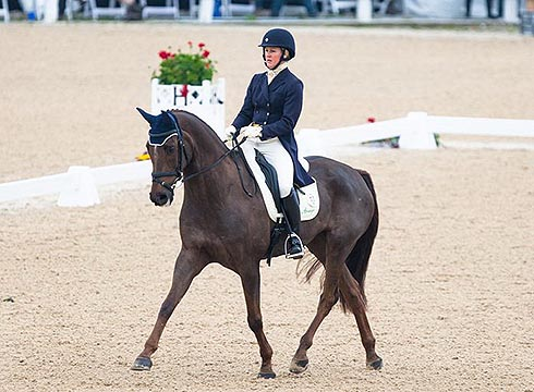 Allison Springer (USA) and Arthur at the 2014 Rolex Kentucky