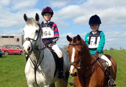 Harry and Alice Homer enjoy a spot of hunter trialing