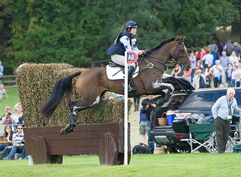 Sophie Jenman and Geronimo jumping at Burghley Horse Trials 2013