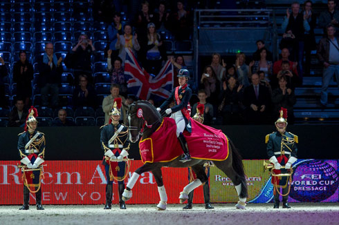 Charlotte Dujardin and Valegro, 2014 Reem Acra FEI World Cup dressage champions