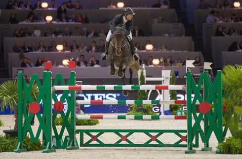 Patrice Delaveau and Lacrimoso HDC at the Longines FEI World Cup Jumping Final 2014