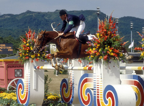 Hubert Bourdy and Morgat at Seoul Olympics 1998