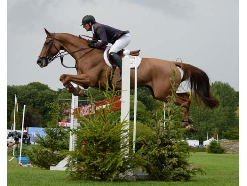 Guy Williams riding Casper De Muze to win the Speed Bery at Hickstead 2014