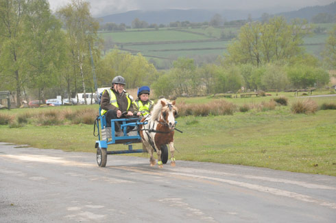 Fenton Kirkland and his grandad out driving on Llangorse Common