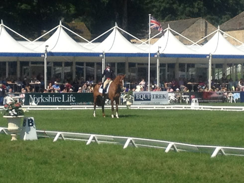 Izzy Taylor and Orlando finish their test, scoring 28.1, at Bramham CCI3* 2014