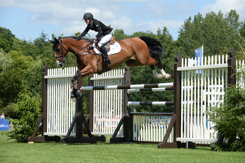 Angelie Von Essen SWE riding Jordan II in The Bunn Leisure Derby Trial at The Equestrian.com Hickstead Derby Meeting in Sussex, UK 26-29th June 2014